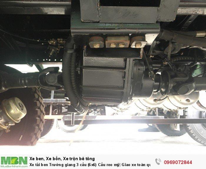 Xe tải ben Trường giang 3 cầu (6x6) Cầu reo mỹ| Giao xe toàn quốc 7