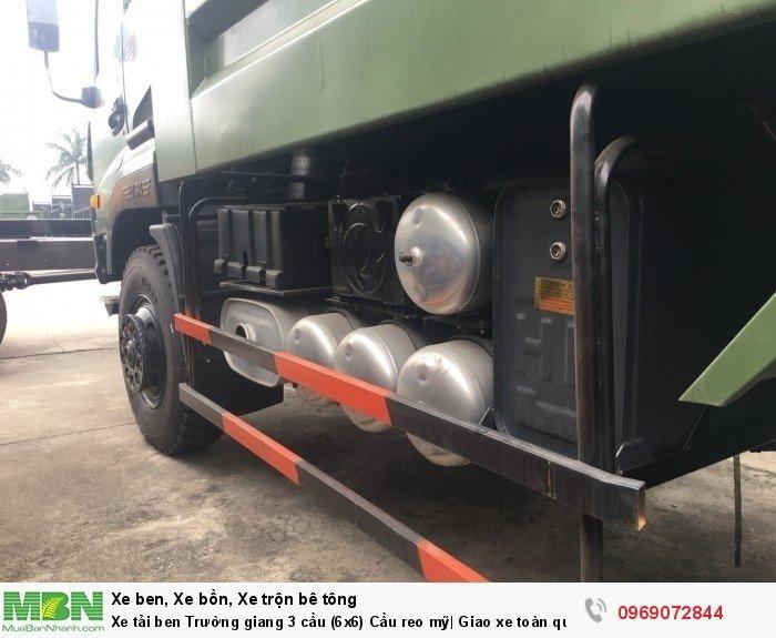 Xe tải ben Trường giang 3 cầu (6x6) Cầu reo mỹ| Giao xe toàn quốc 11