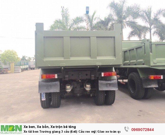 Xe tải ben Trường giang 3 cầu (6x6) Cầu reo mỹ| Giao xe toàn quốc 12