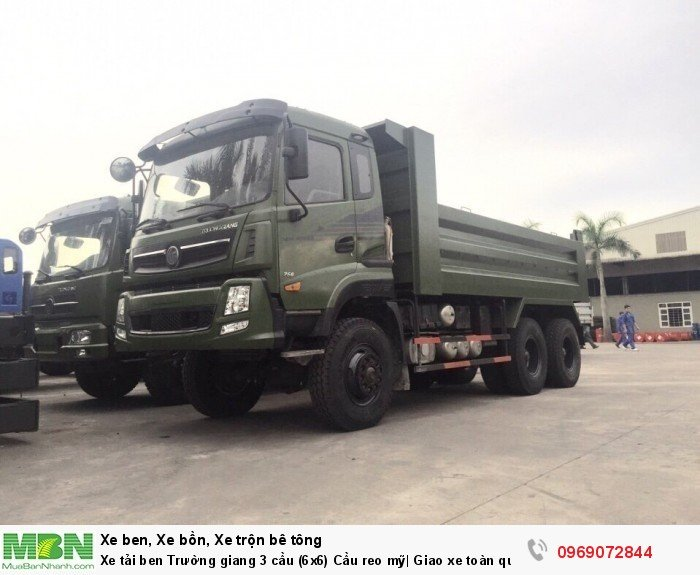 Xe tải ben Trường giang 3 cầu (6x6) Cầu reo mỹ| Giao xe toàn quốc 13