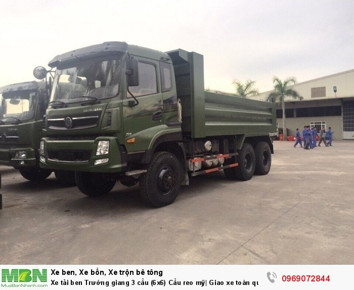 Xe tải ben Trường giang 3 cầu (6x6) Cầu reo mỹ| Giao xe toàn quốc 14