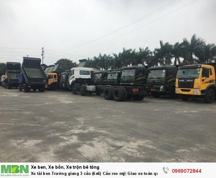 Xe tải ben Trường giang 3 cầu (6x6) Cầu reo mỹ| Giao xe toàn quốc 15