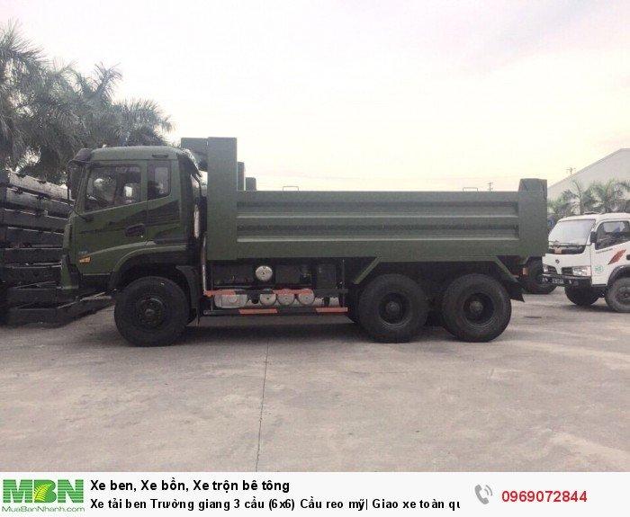 Xe tải ben Trường giang 3 cầu (6x6) Cầu reo mỹ| Giao xe toàn quốc 16