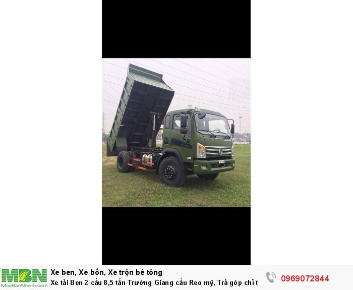 Xe tải Ben 2 cầu 8,5 tấn Trường Giang cầu Reo mỹ, Trả góp chỉ từ 220 triệu, Giao xe ngay