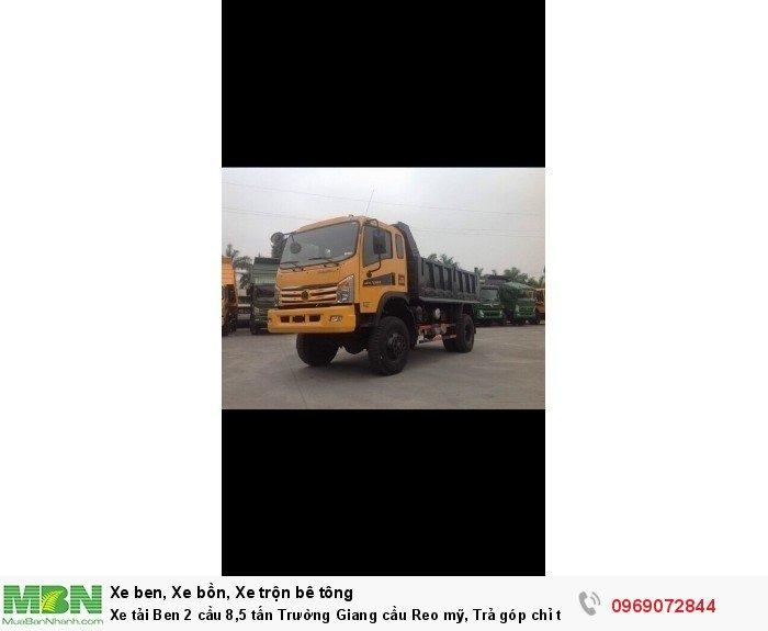 Xe tải Ben 2 cầu 8,5 tấn Trường Giang cầu Reo mỹ, Trả góp chỉ từ 220 triệu, Giao xe ngay 8
