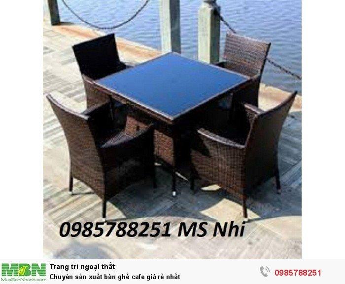 Chuyên sản xuất bàn ghế cafe giá rẻ nhất0