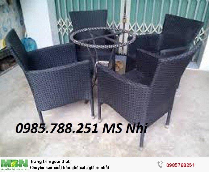 Chuyên sản xuất bàn ghế cafe giá rẻ nhất1