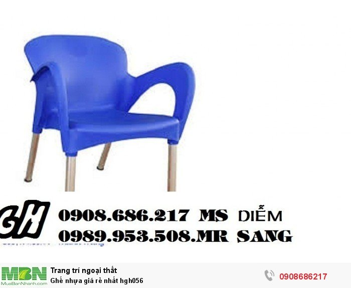 Ghế nhựa giá rẻ nhất hgh0564