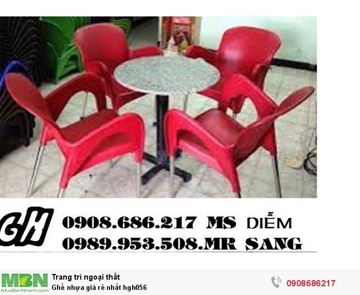 Ghế nhựa giá rẻ nhất hgh0565