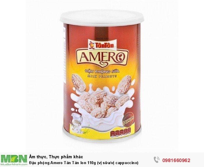 Đậu phộng Amero Tân Tân lon 110g (vị sữa/vị cappuccino)