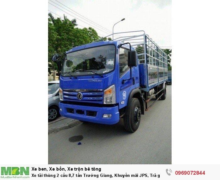 Xe tải thùng 2 cầu 8,7 tấn Trường Giang, Khuyến mãi JPS, Trả góp chỉ từ 190 Triệu