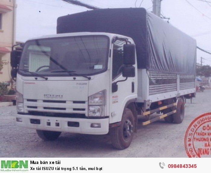 Xe tải ISUZU tải trọng 5.1 tấn, mui bạt