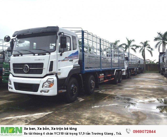 Xe tải thùng 4 chân YC310 tải trọng 17,9 tấn Trường Giang , Trả góp chỉ từ 150 Triệu, Giao xe ngay