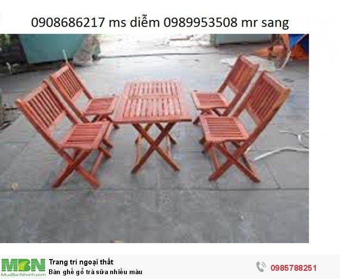 Bàn ghế gỗ trà sữa nhiều màu6