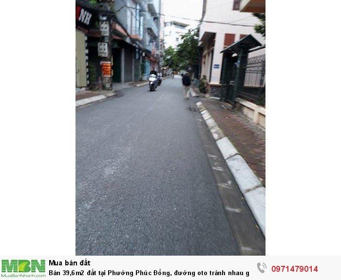 Bán 39,6m2 đất tại Phường Phúc Đồng, đường oto tránh nhau giá 2 tỷ.
