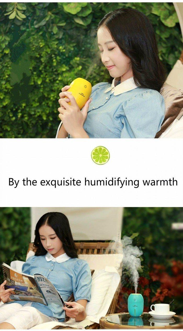 Máy phun sương tinh dầu Quả chanh kiêm đèn ngủ Lemon Humidifier0