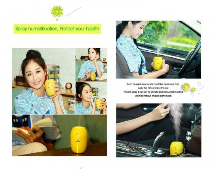 Máy phun sương tinh dầu Quả chanh kiêm đèn ngủ Lemon Humidifier10