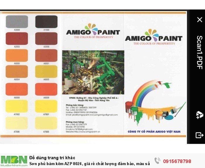 Sơn phủ bám kẽm AZP 8024, giá rẻ chất lượng đảm bảo, màu sắc đa dạng, sơn công nhiệp0