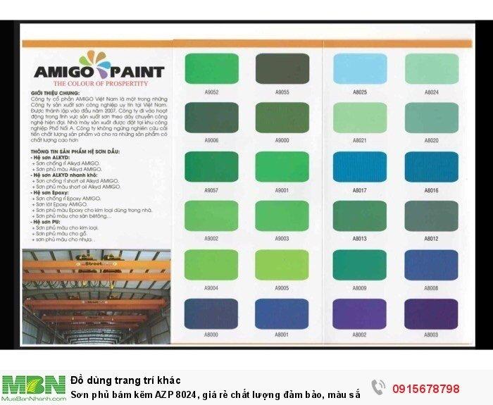 Sơn phủ bám kẽm AZP 8024, giá rẻ chất lượng đảm bảo, màu sắc đa dạng, sơn công nhiệp1