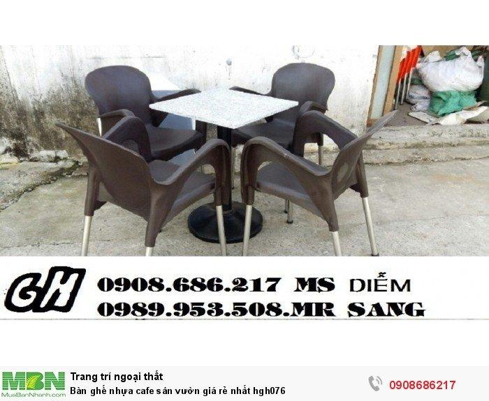 Bàn ghế nhựa cafe sân vườn giá rẻ nhất hgh0760