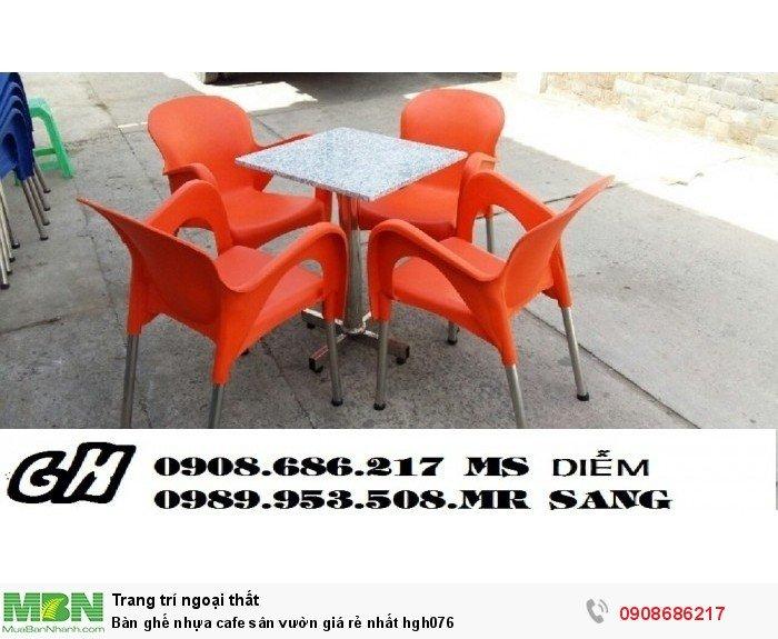 Bàn ghế nhựa cafe sân vườn giá rẻ nhất hgh0763