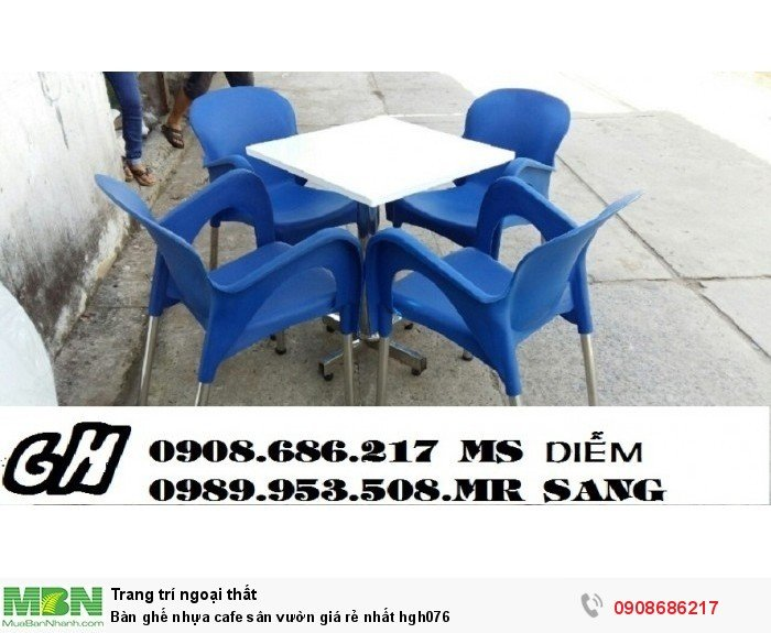 Bàn ghế nhựa cafe sân vườn giá rẻ nhất hgh0765