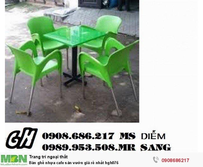 Bàn ghế nhựa cafe sân vườn giá rẻ nhất hgh0767