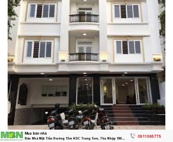 Bán Nhà Mặt Tiền Đường 15m KDC Trung Sơn, Thu Nhập 180 Triệu/Tháng