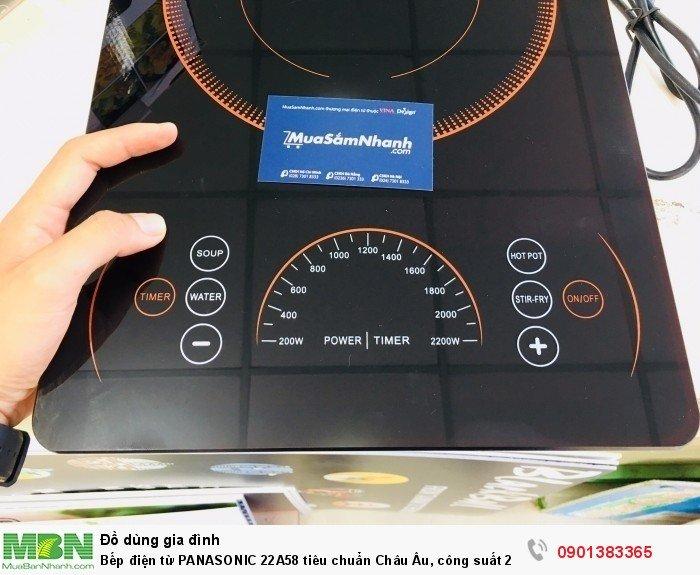 - Bếp điện từ Panasonic 22A58 Có bảng điều khiển bằng cảm ứng  cực nhạy kh�...
