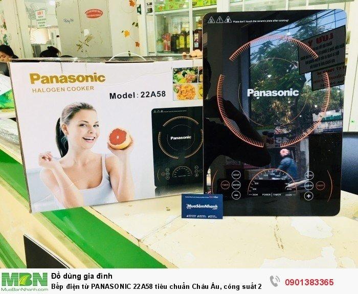 Bếp điện từ PANASONIC 22A58 tiêu chuẩn Châu Âu, công suất 2200W + Tặng Kèm Nồi Lẩu - MSN383214