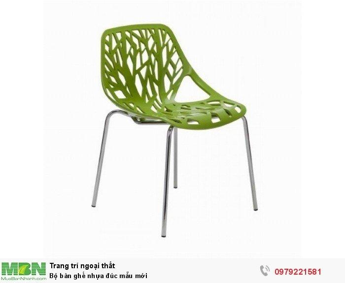 Bộ bàn ghế nhựa đúc mẫu mới2