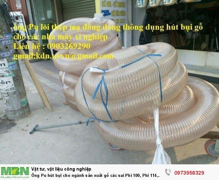 Ống Pu hút bụi cho ngành sản xuất gỗ các sai Phi 100, Phi 114, Phi120, Phi150, Phi 168, Phi 2000