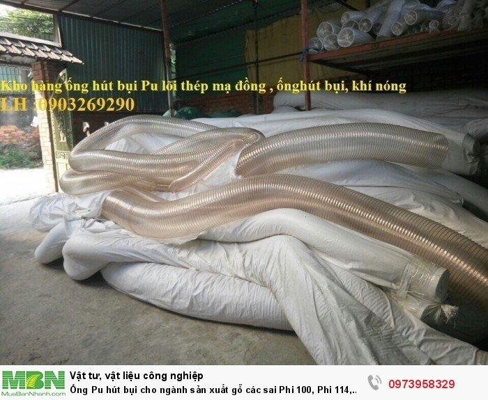 Ống Pu hút bụi cho ngành sản xuất gỗ các sai Phi 100, Phi 114, Phi120, Phi150, Phi 168, Phi 2001