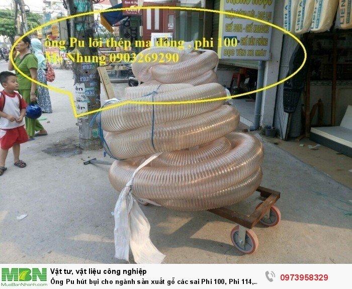 Ống Pu hút bụi cho ngành sản xuất gỗ các sai Phi 100, Phi 114, Phi120, Phi150, Phi 168, Phi 2002