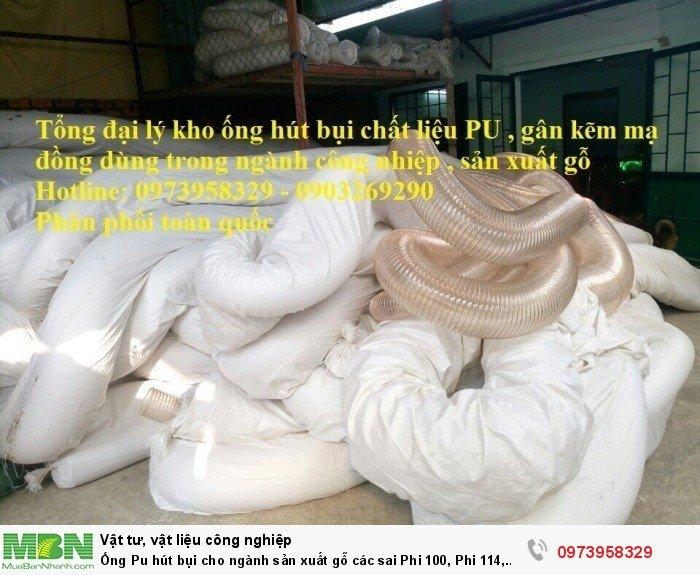 Ống Pu hút bụi cho ngành sản xuất gỗ các sai Phi 100, Phi 114, Phi120, Phi150, Phi 168, Phi 2003