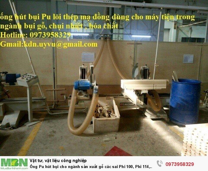 Ống Pu hút bụi cho ngành sản xuất gỗ các sai Phi 100, Phi 114, Phi120, Phi150, Phi 168, Phi 2004