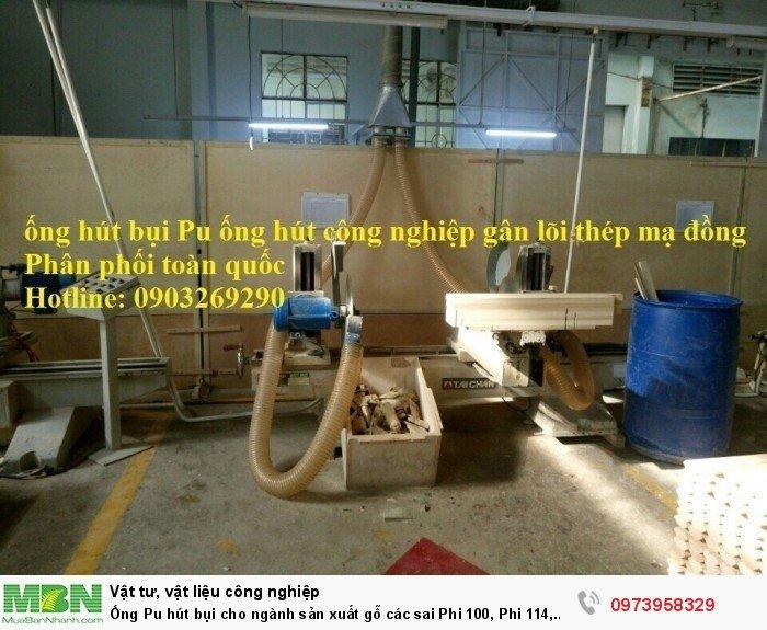 Ống Pu hút bụi cho ngành sản xuất gỗ các sai Phi 100, Phi 114, Phi120, Phi150, Phi 168, Phi 2005