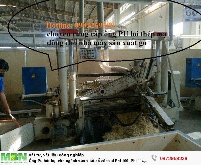 Ống Pu hút bụi cho ngành sản xuất gỗ các sai Phi 100, Phi 114, Phi120, Phi150, Phi 168, Phi 2008