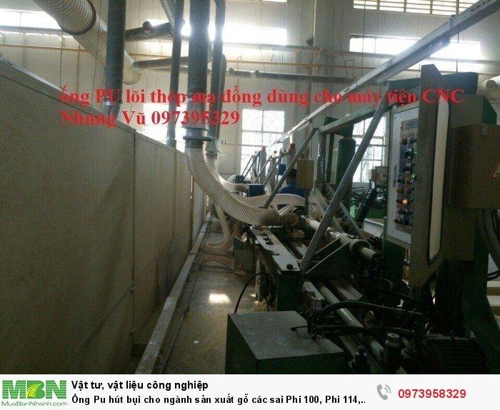 Ống Pu hút bụi cho ngành sản xuất gỗ các sai Phi 100, Phi 114, Phi120, Phi150, Phi 168, Phi 2009