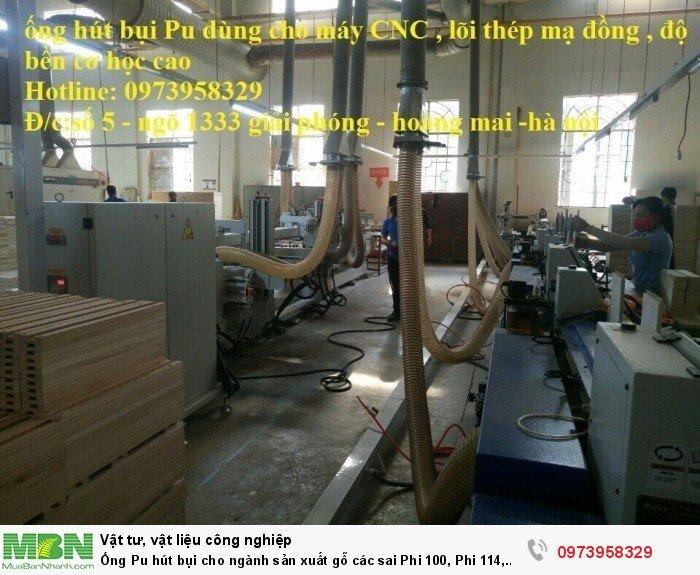 Ống Pu hút bụi cho ngành sản xuất gỗ các sai Phi 100, Phi 114, Phi120, Phi150, Phi 168, Phi 20010