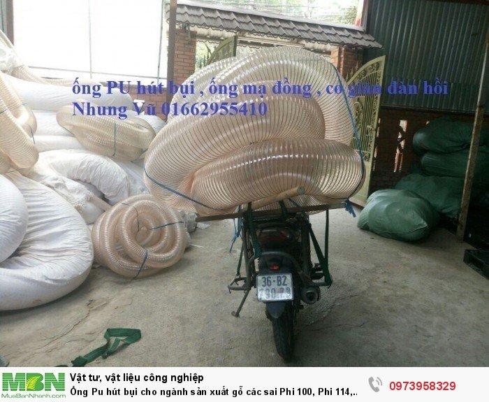 Ống Pu hút bụi cho ngành sản xuất gỗ các sai Phi 100, Phi 114, Phi120, Phi150, Phi 168, Phi 20013
