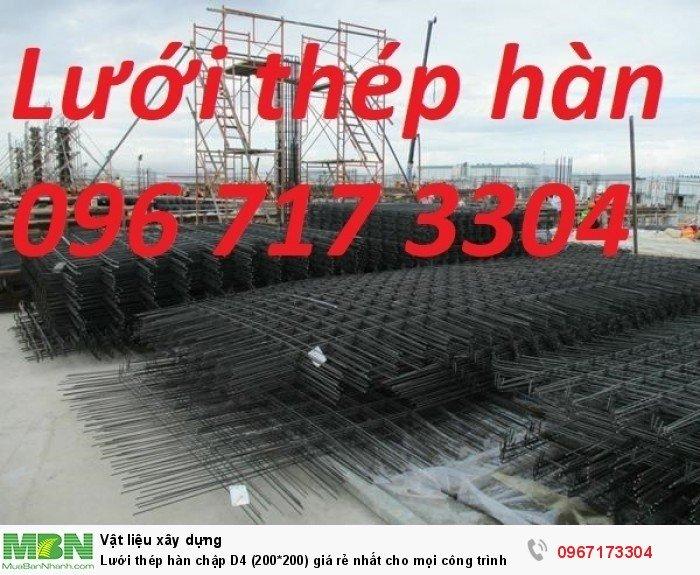 Lưới thép hàn vuông D4 (200*200) giá rẻ nhất cho mọi công trình