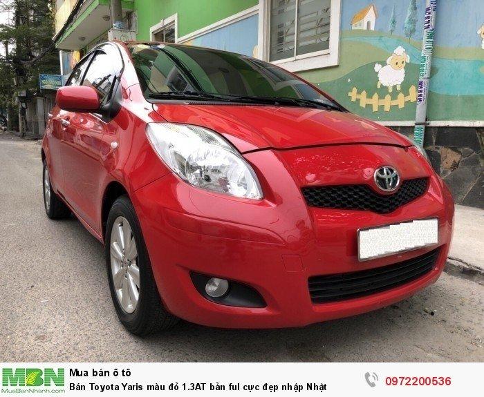 Bán Toyota Yaris  màu đỏ 1.3AT bản ful cực đẹp nhập Nhật