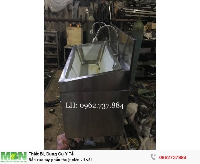 Bồn rửa tay phẫu thuật viên - 1 vòi3