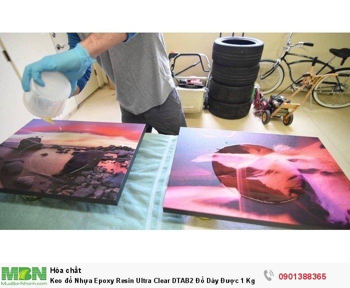 Keo đổ Nhựa Epoxy Resin Ultra Clear DTAB2 Đổ Dày Được 1 Kg  - MSN388340