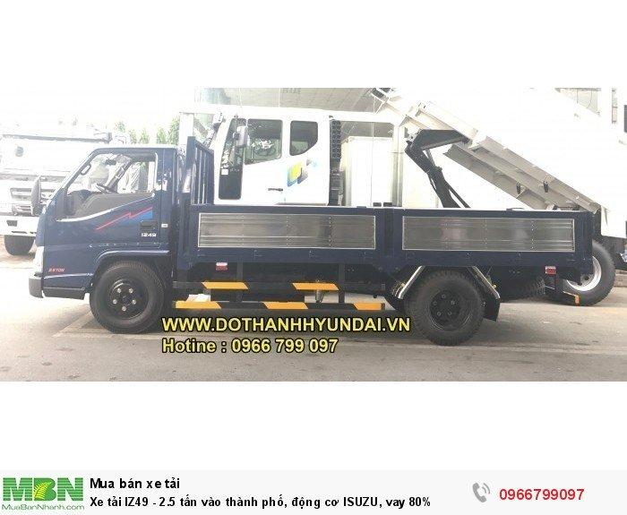 Xe tải IZ49 - 2.5 tấn vào thành phố, động cơ ISUZU, vay 80%