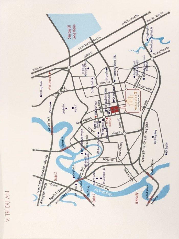 Đô Thị Mega City 2, Đất nền thổ cư NhơnTrạch–Đồng Nai, Đất Vàng Đô Thị Vệ Tinh Tp.HCM