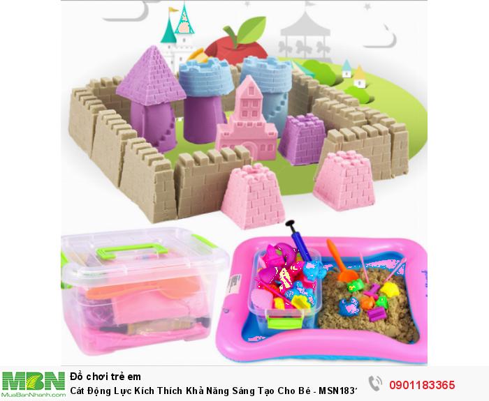 Bộ đồ chơi cát động lực được thiết kế chơi cùng với cát nặn siêu nhẹ, siêu mịn , tạo không gian chơi vô cùng sạch sẽ và an toàn mà vẫn không kém phần thú vị và lôi cuốn4