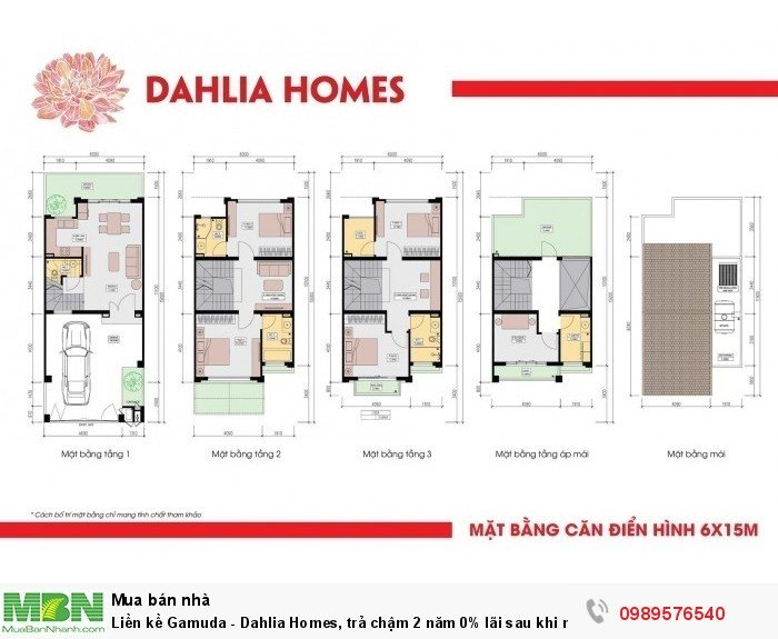 Liền kề Gamuda - Dahlia Homes, trả chậm 2 năm 0% lãi sau khi nhận nhà