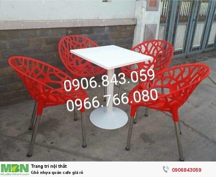 Ghế nhựa quán cafe giá rẻ2